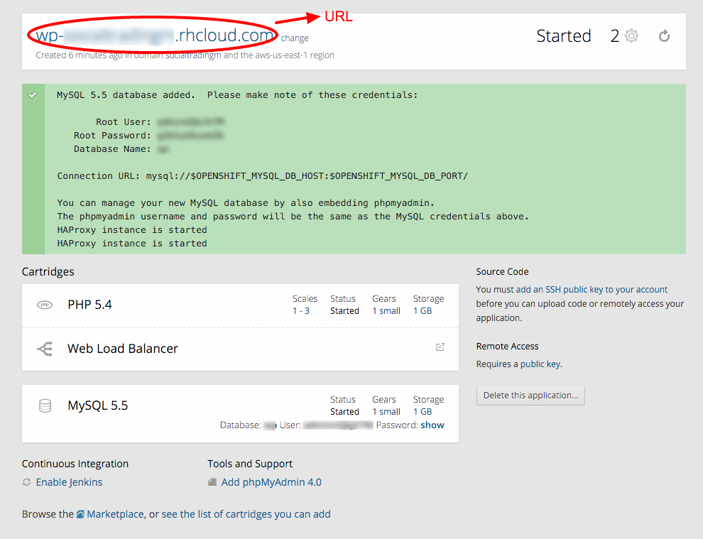 Host WordPress Free on OpenShift: App Summary